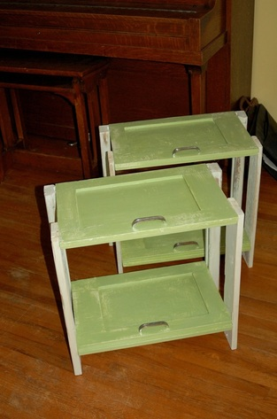 cupboard door side tables