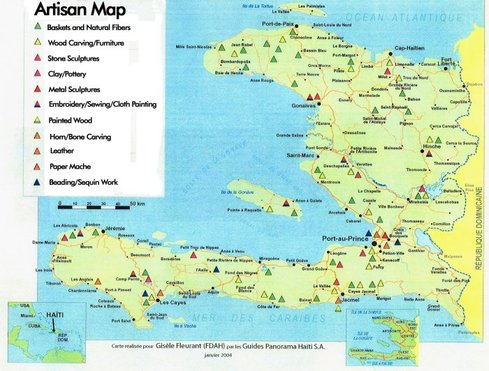 Haiti artisan map