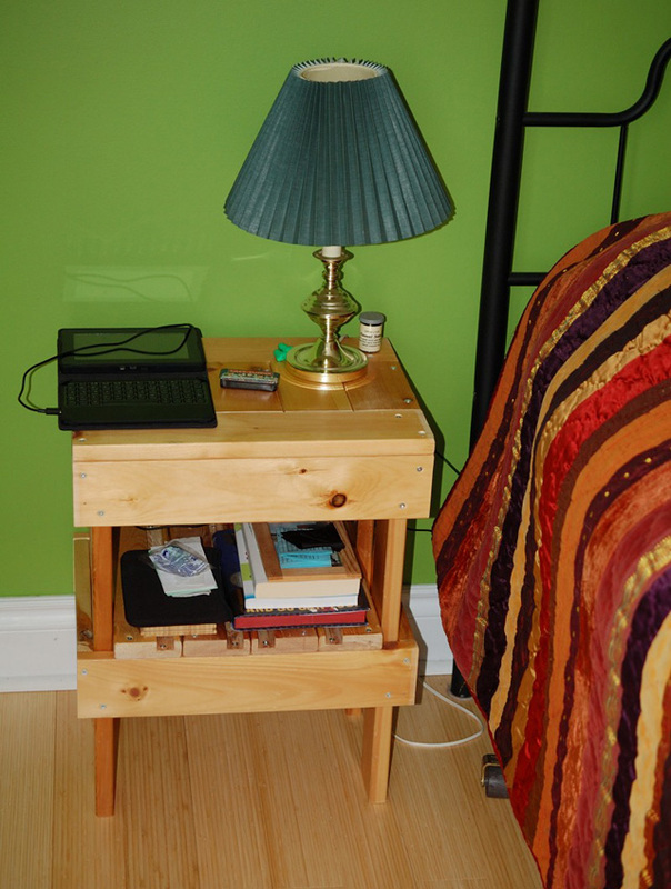 upcycled futon table